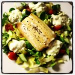 Healthy Monday: Salmon Salad with Lemon and Mint Ricotta