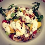Grilled Halloumi and Mushroom Salad with a Mint Yoghurt Dressing