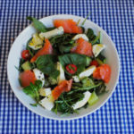 Weekend Lunch: Smoked Salmon Salad with Mozzarella