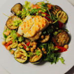 Grilled Vegetable, Chickpea and Halloumi Salad