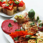 Antipasti with Tomato Crostini