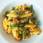 Asparagus and Chorizo Carbonara
