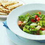Greek Salad (with griddled oregano pittas)