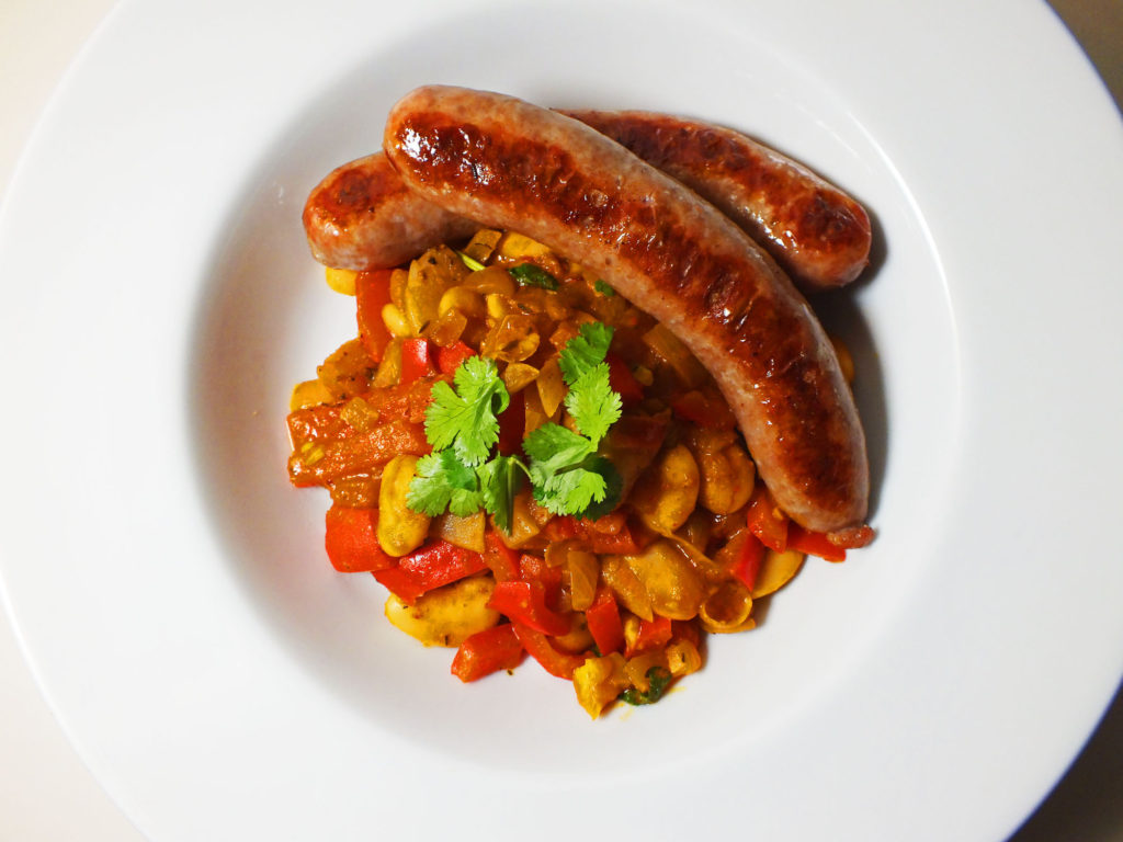 sausages_white_beans_tomatoes