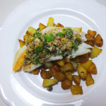 White Fish with an Anchovy Salsa and Rosemary Potatoes