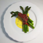 Asparagus Wrapped in Ham with a Hollandaise Sauce