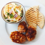 Pork and Apple Koftas with a Coleslaw
