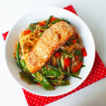 Salmon Terriyaki and Stir-Fry Noodles
