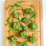 Baked Mushrooms with Avocado, Spinach and Walnut Pesto
