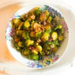 Caramelised Onion, Parmesan and Walnut Roasted Brussel Sprouts