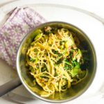 Leek and Spinach Spaghetti Carbonara