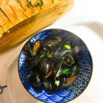 Mussels in a White Wine Sauce with Garlic Butter Ciabatta