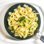 Blue Cheese, Broccoli and Walnut Tagliatelle