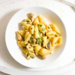 Creamy White Asparagus and Pork Pasta