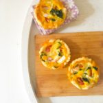 Mini Goats Cheese, Tomato and Basil Quiches