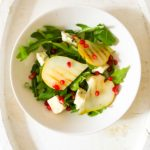 Griddled Pear, Blue Cheese and Pomegranate Salad