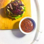 Blue Cheese Burger with Caramelised Onions and BBQ Sauce