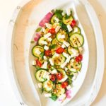 Griddled Courgettes with Pine Nuts and Feta
