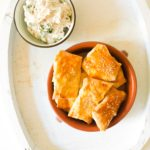 Feta and Coriander Parcels with a Walnut Dip