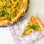 Cherry Tomato, Goats Cheese and Rocket Quiche