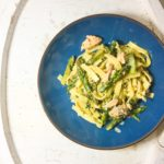Asparagus and Salmon Tagliatelle