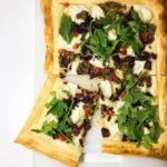 Goats Cheese, Caramelised Onion and Rocket Tart